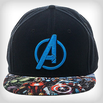Avengers Blue Snapback Hat - Spencer's