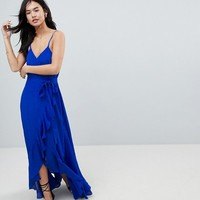 ASOS Ultimate ruffle front cami wrap maxi dress at asos.com