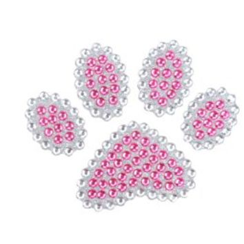 Cute Animal Paw Pink Gem Crystals Car Truck SUV Home Office Window Decal Sticker Cling Bling