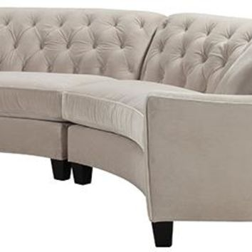 Riemann Curved Tufted Sectional - Sofas And Loveseats - Living Room - Furniture | HomeDecorators.com