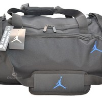 Nike Air Jordan Duffle Gym Bag Basketball Black Blue Duffel New Large Mens Boys