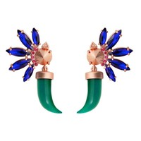 Wanderluster | Papatya Earrings in Blue and Green