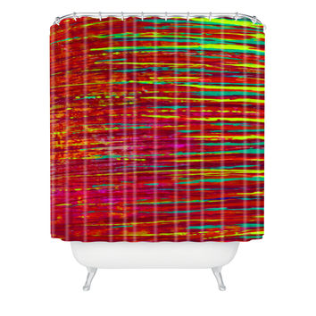 Sophia Buddenhagen Red Reflection Shower Curtain
