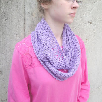 Shop Lilac Infinity Scarf on Wanelo