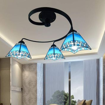 In 2016 the new hot Korean Mediterranean living room lamps, chandeliers decorated cozy dining pastoral style bedroom lamp