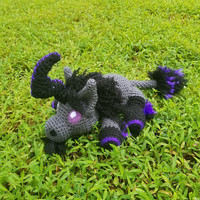 World of Warcraft Inspired: Lucid Nightmare Unicorn Amigurumi (Crochet Plushie/Plush Toy) - Can be made in any coloring! MADE TO ORDER