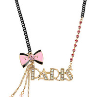 BetseyJohnson.com - PARIS BOW NECKLACE PINK