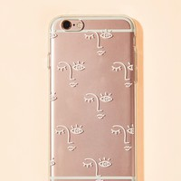 Abstract Face Print iPhone Case
