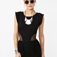 Peplum Mesh Dress in  Clothes at Nasty Gal