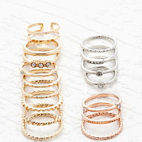 Mixed Band Midi Ring Set