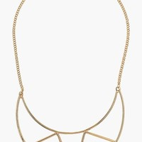 Women's Topshop Half Moon Bib Necklace
