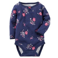 Carter's Floral Bodysuit - Baby Girl, Size: