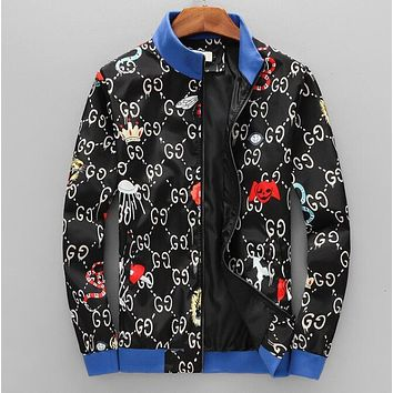 GUCCI Trending Men Women Stylish Print Zipper Cardigan Sweatshirt Jacket Coat Windbreaker Sportswear