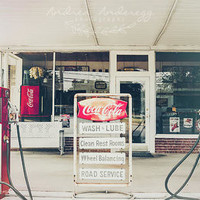 Vintage Gas Station by Andrea Anderegg Photography