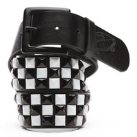 Vans Studded PU Leather Belt (Black/White)