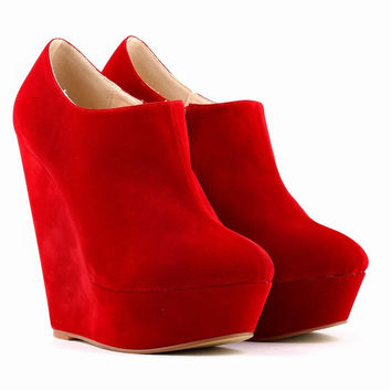 Cool Suede Pure Color Club Ankle Boots