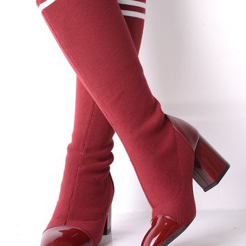 Red Stretch Sock Boots