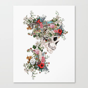 Skull Queen Canvas Print by RIZA PEKER