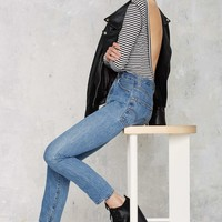 Nasty Gal Scouted Open Back Bodysuit - Stripes