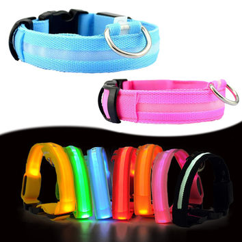 Night Glow LED Pet Dog Collar