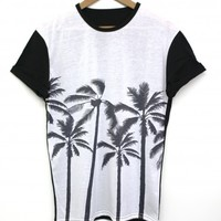 Palm Bottom Black All Over T Shirt