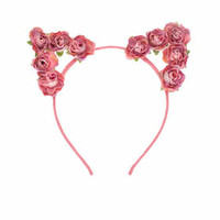 **Flower Cat Ear Aliceband by Orelia