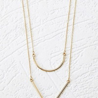 Geo Pendant Layered Necklace