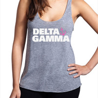 Delta Gamma Tri Blend Racerback Tank - Stacked