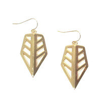 Golden Geometric Drop Earrings