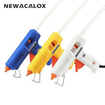 NEWACALOX 150W EU Plug Hot Melt Glue Gun with 11mm Stick Heat Temperature Tool Industrial Guns Thermo Gluegun Repair Heat Tools