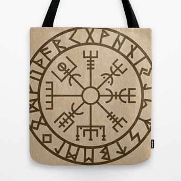 Old Norse Viking symbols of protection by healinglove Tote Bag by Healinglove art products