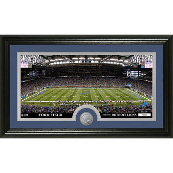 Detroit Lions inStadiumin Minted Coin Panoramic Photo Mint