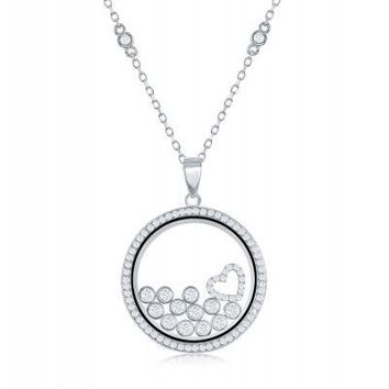 Floating Diamonds Necklace
