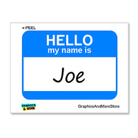 Joe Hello My Name Is Sticker