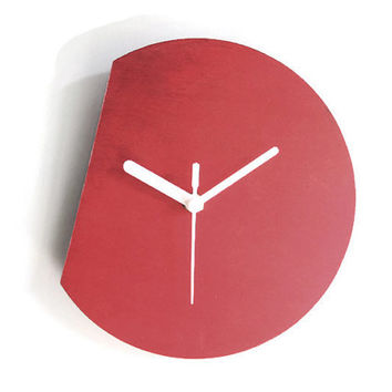 Laser cut wood modern wall clock,silent wall clock,minimal wall clock,small wall clock,minimalist wall clock,colorful wall clock,wood clock
