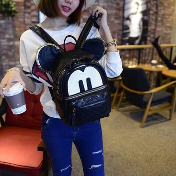 Fashion Mickey Star Studded Backpack
