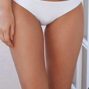 LA Hearts Seamless Cheeky Bikini Bottom - Womens Swimwear - White