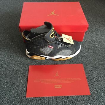 Air Jordan 6 x Levis Black Denim