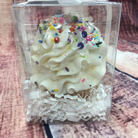 Birthday Cake Cupcake Bath Bomb-Large