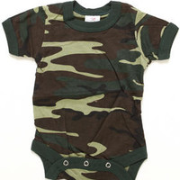 Woodland Camo Bodysuit (Infant) by DRJ Army/Navy Shop