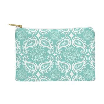 Heather Dutton Plush Paisley SeaSpray Pouch