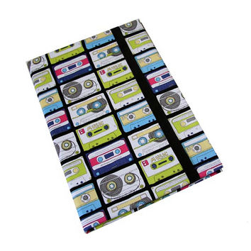 iPad Case Air 2 3 4 Mini 80's Cassette Tapes Retro iPad Cover, iPad Sleeve, i Pad stand up Leather closure