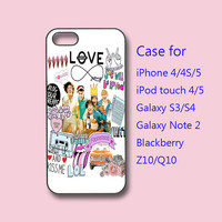 One direction- iphone 4 case,iPhone 4S case, iPhone 5 case,ipod case, samsung S3 case, S4 case, galaxy note 2, blackberry Z10,Q10