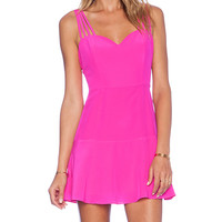 NBD x Naven Twins Luminous Fit & Flare Dress in Pink