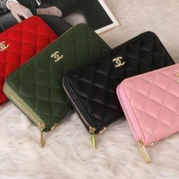 chanel 2017 Noble fashion grid leather Wallet [99384098831]