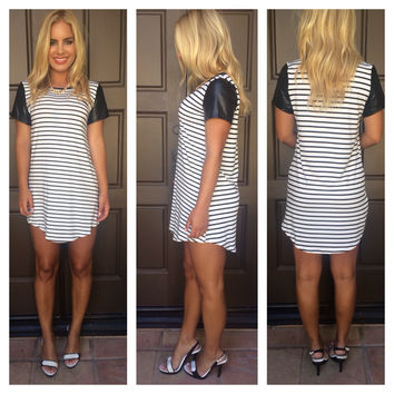Black Stripe Take Me Out Dress