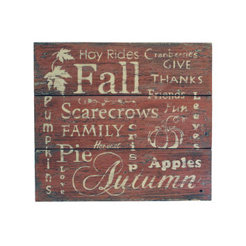 Rustic Sign, Fall Home Decor