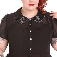 Ahoy Blouse in Black | Blame Betty