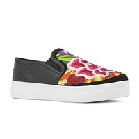 Dana Mexican Embroidered Slip-on Shoes