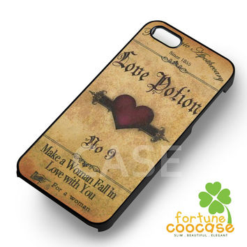 Love Potion Vintage Label -end for iPhone 6S case, iPhone 5s case, iPhone 6 case, iPhone 4S, Samsung S6 Edge